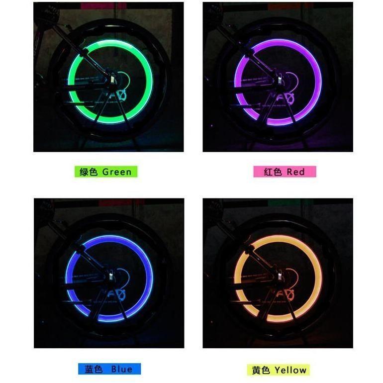Led Bicycle Tire Valve Caps Light Lumiere De Velo Velo De Route