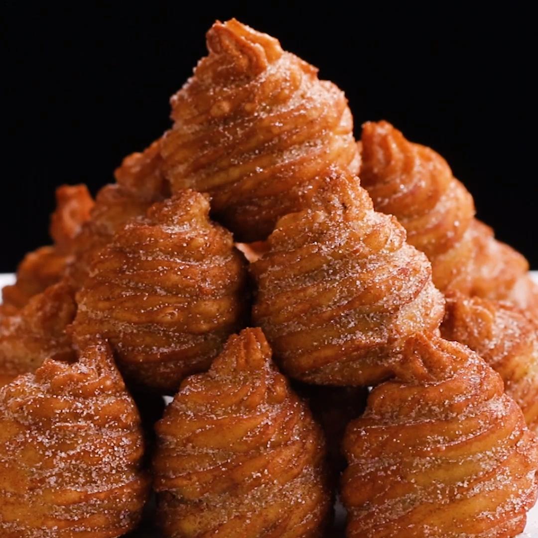 ゴロンと大きい!うず巻きチョコチュロス #desserts