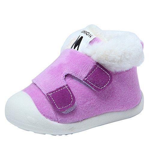 Kuner Newborn Baby Boys and Girls Waterproof Winter Warm Snow Boots Crib Shoes