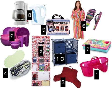 Delightful Shower Shoes Down To The Coffee Are Must Haves In A College Dorm Room! Great Ideas