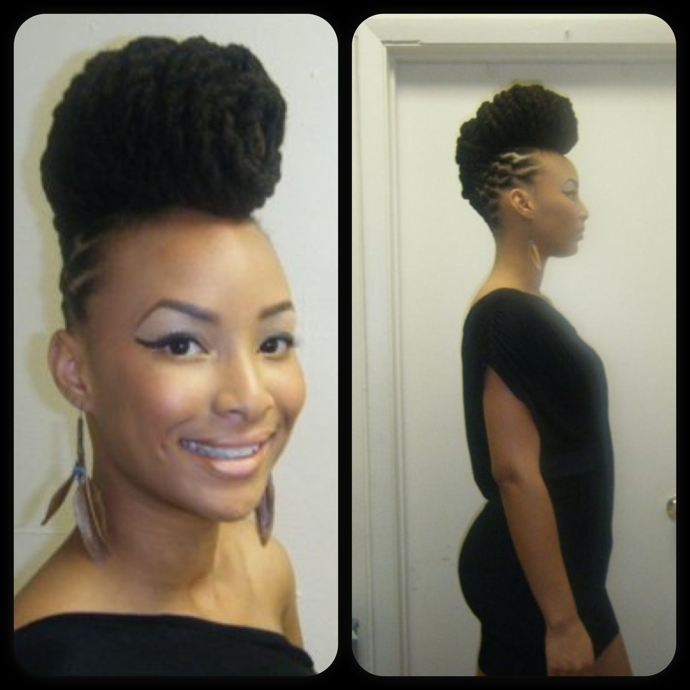 Hotnessssss baided and curled mohawk style braided styles