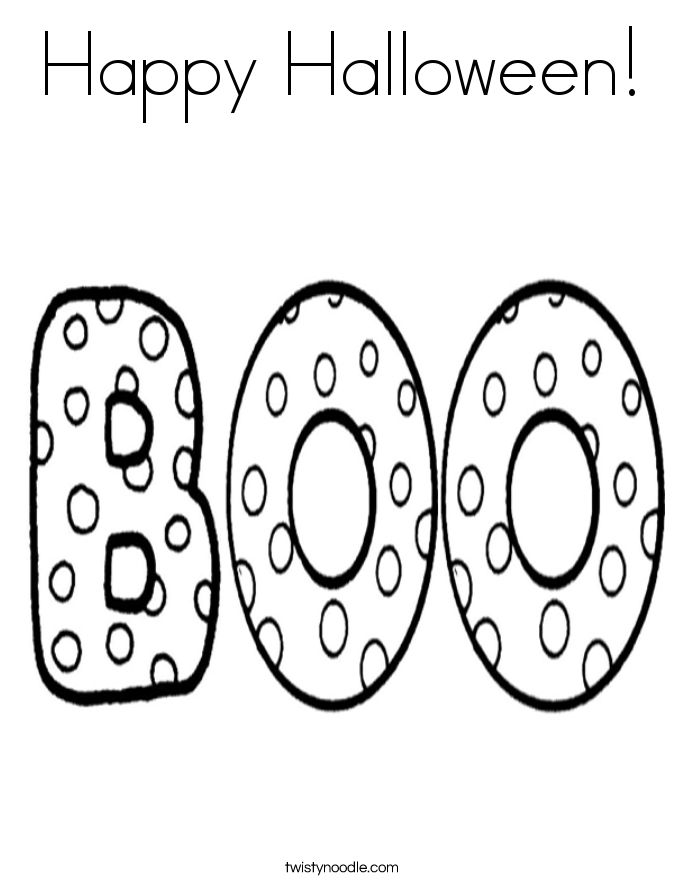 Happy Halloween Coloring Pages | Happy Halloween Coloring ...