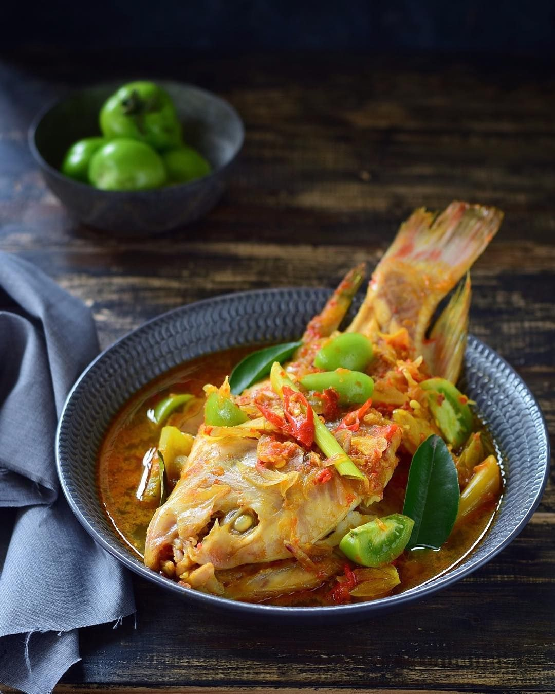 Masak Ikan Nila : masak, Padeh, Resep, Masakan,
