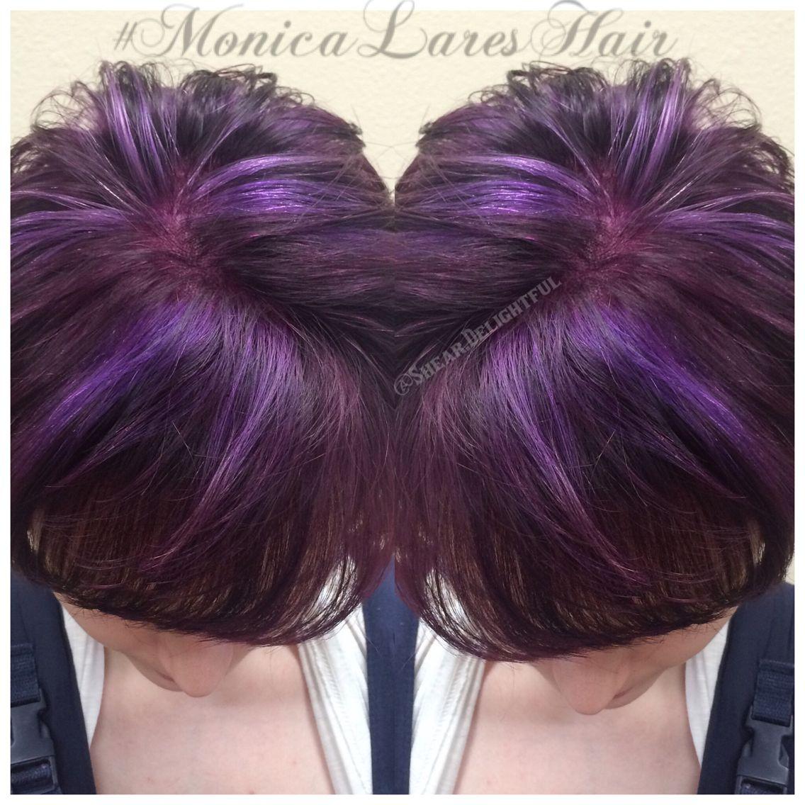 Plum purple hair with light purple highlights hair pinterest plum purple hair with light purple highlights pmusecretfo Choice Image