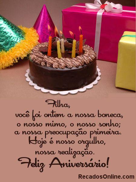 Feliz Aniversário Filha Cartões De Aniversário Happy Birthday