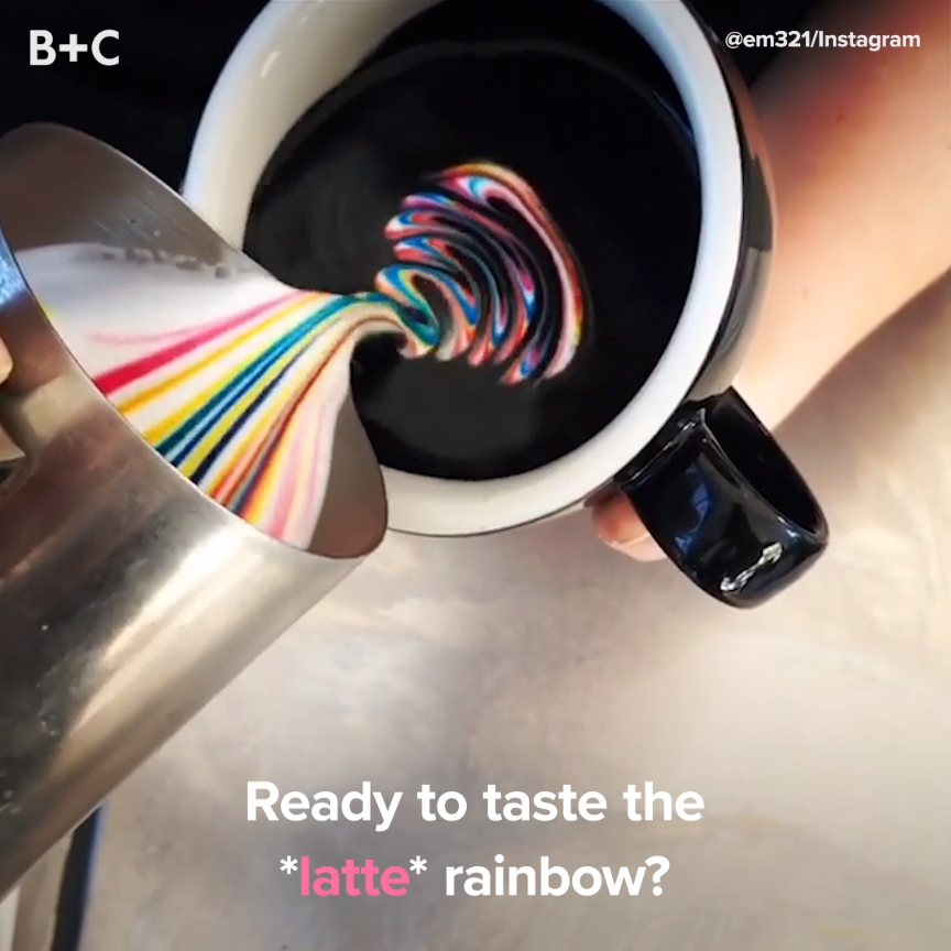 Rainbow lattes are REAL!