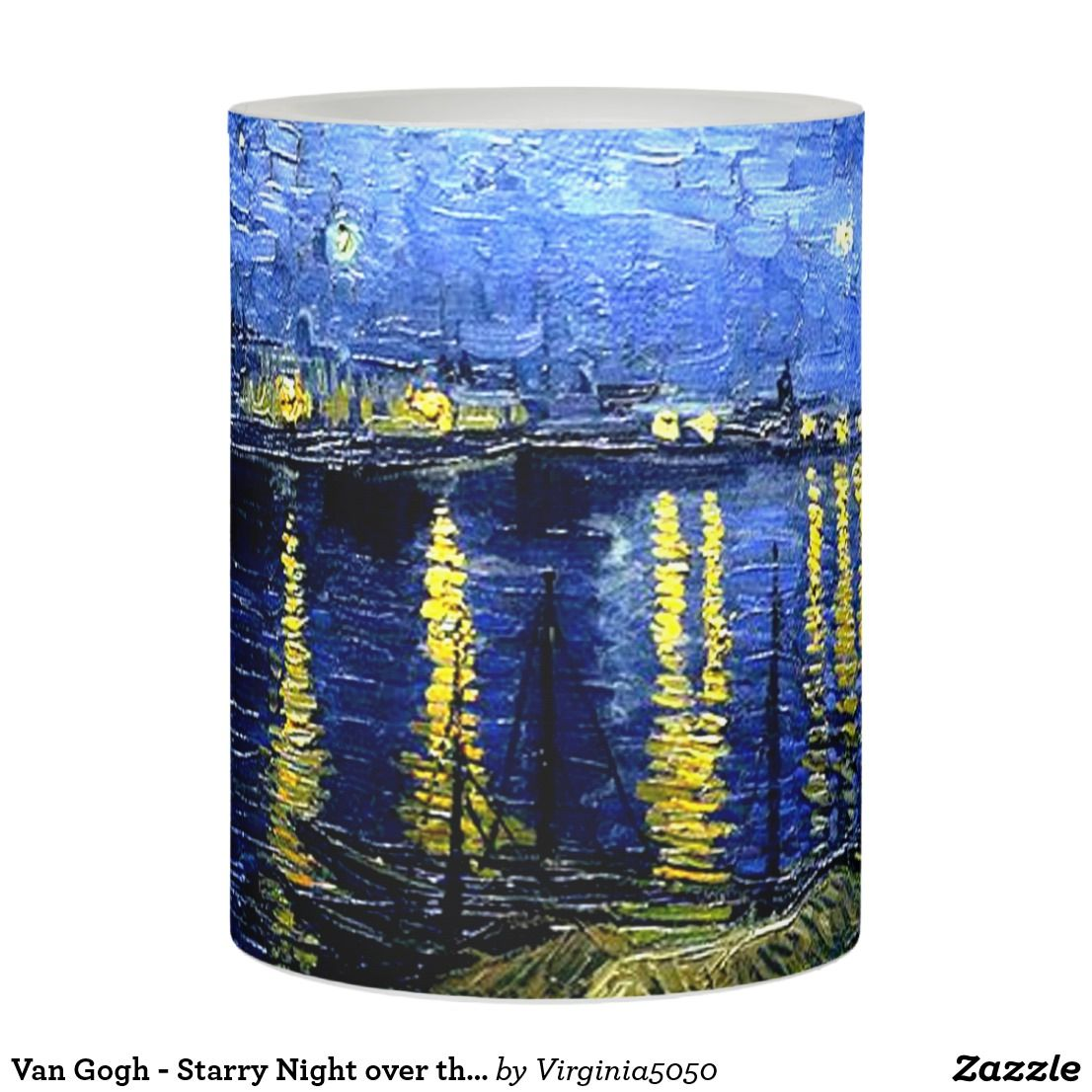 Van Gogh - Starry Night over the Rhone Flameless Candle