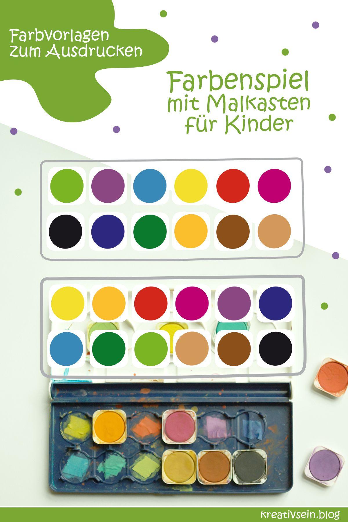 7 Tolle Spiele Zum Farben Lernen Kreativsein Blog Farben Lernen Projekt Farben Kindergarten Tolle Spiele
