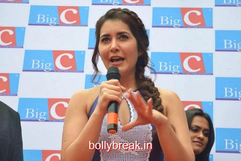Raashi Khanna Hot Pics from Big C Store Launch In Guntur