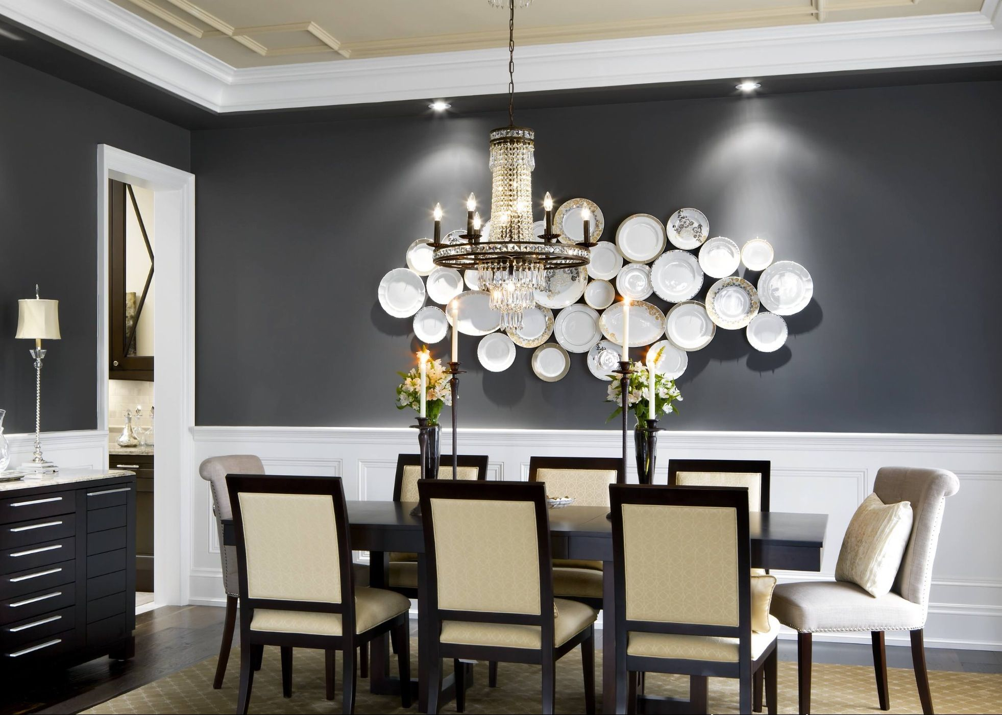 I Love Plate Art In Dining Rooms So Easy And Elegant