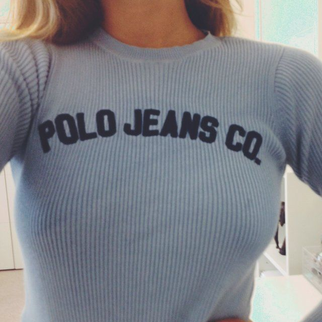 38c9ef9109fe Beautiful vintage genuine Ralph Lauren polo jeans ribbed top crop top size  S 100% cotton