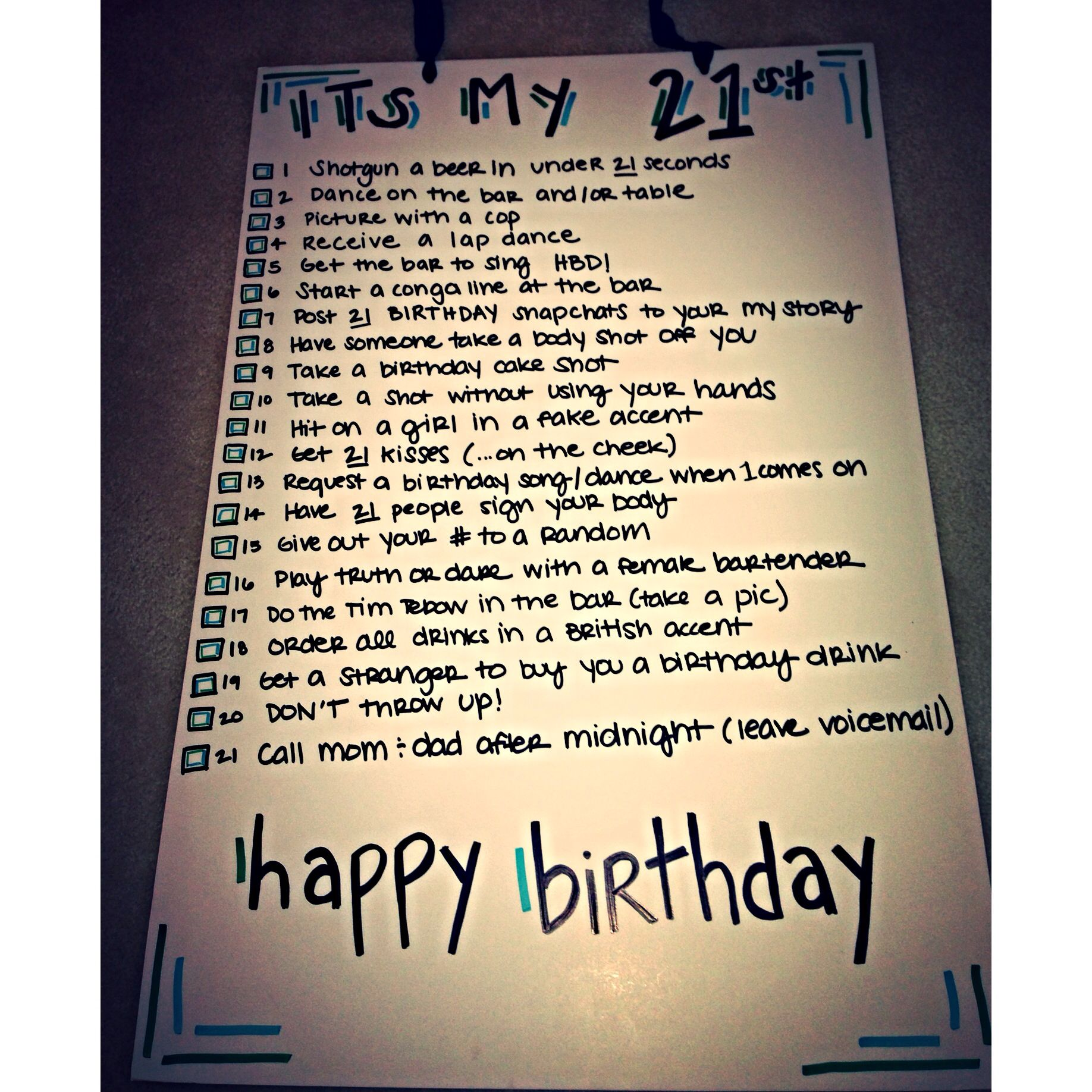 21 Things To Do On Your 21st