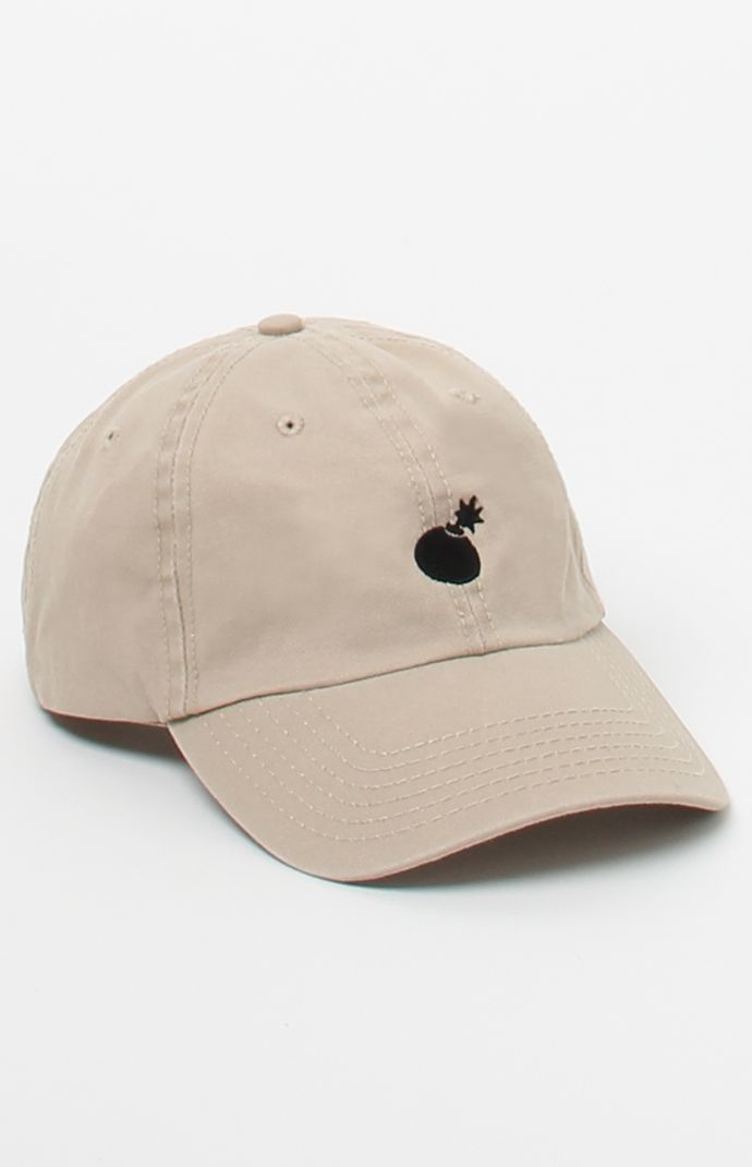 The Hundreds Solid Bomb Strapback Dad Hat Embroidered Caps 7a41fdc661a2