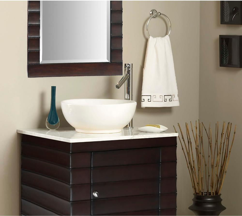 Ryvyr Round Vitreous China Vessel White Cve160rd Vanity Sink Bathroom Vanity Bathroom Sink Vanity