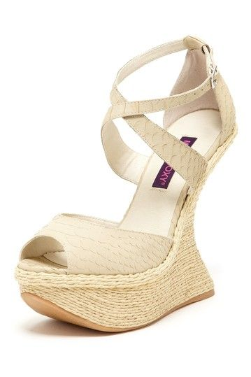 Mojo Moxy Scorpio Curved Wedge Sandal by Bring It on on @HauteLook