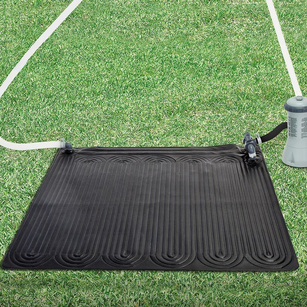 Intex Solar Mat Above Ground Solar Heater 28685e The Home Depot Solar Heater Solar Pool Solar Pool Heater