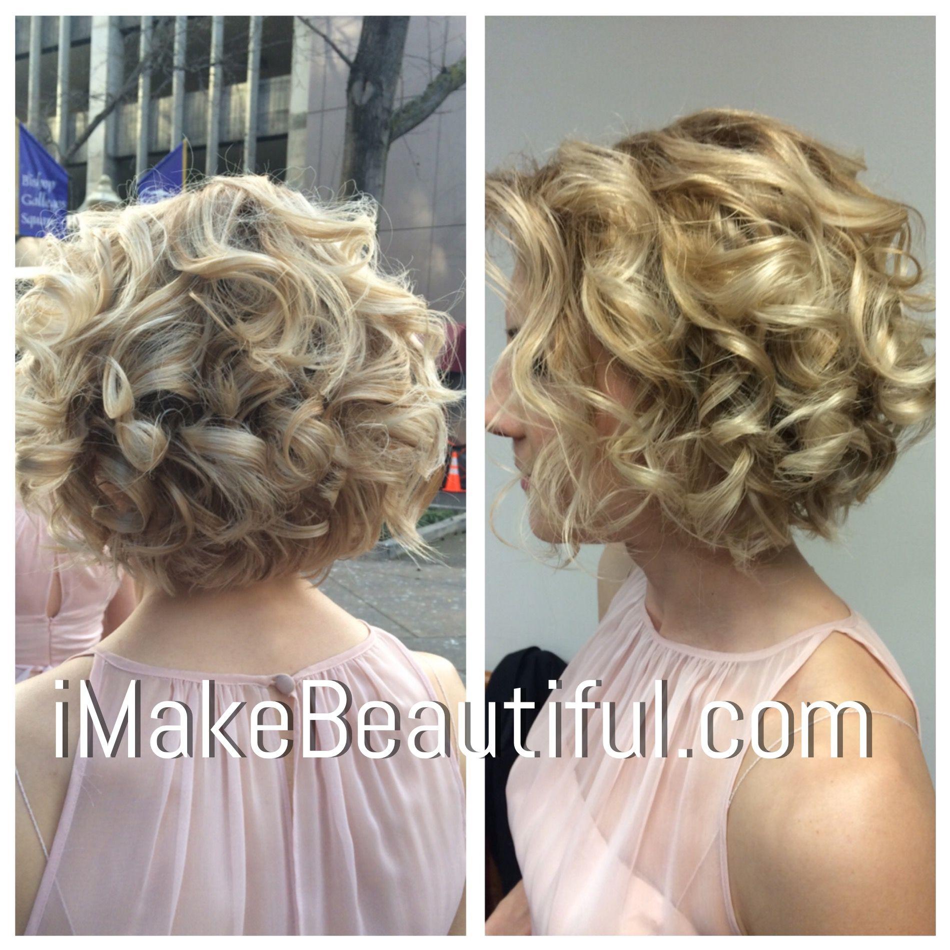 Bridal Hair For Short Hair In 2020 Short Curly Hair Short Permed Hair Short Hair Bride