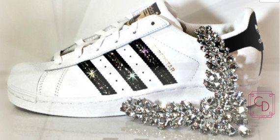 Original Swarovski Cristaux Femmes Avec Superstar Adidas Des Pour BxYwqnp50