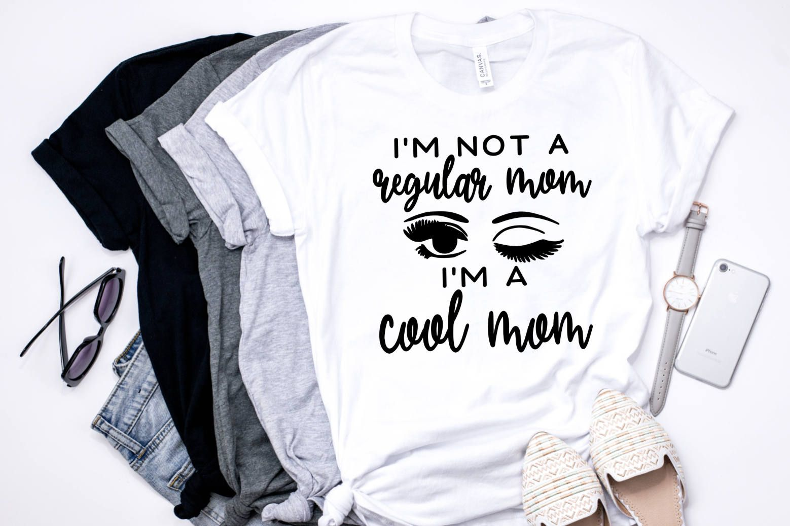 I'm Not A Regular Mom//I'm A Cool Mom//Mean Girls//Graphic T-Shirt by SavageSeamsCo on Etsy