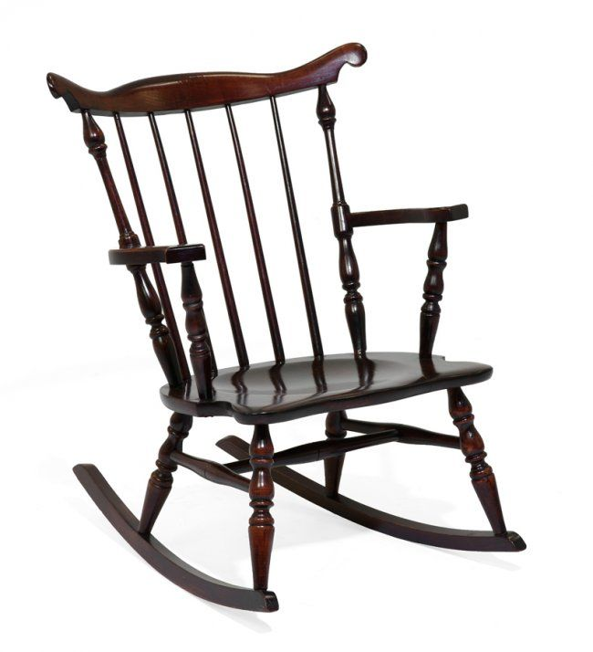 a windsor style child s rocking chair lot 212 morton auctioneers