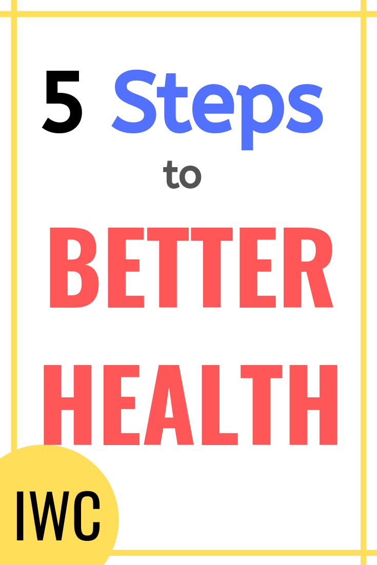 5 Steps To Better Health Starting Today And Lasting A Lifetime Health And Wellness Health Healthy Mindset