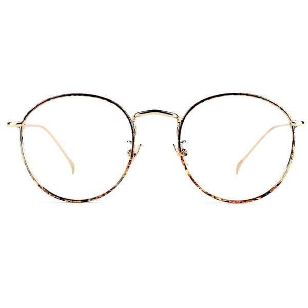 fd59fb7db4 TIJN Women Full Rim Round Metal Circle Eyeglasses Thin Frame (24 CAD) ❤  liked on Polyvore featuring accessories