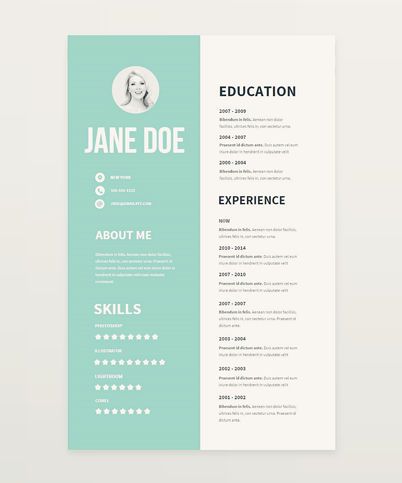 Clear And Pretty Resume Templates Weve Made To Boost Your Career Fell Free Use Them For PurposesAll The Wac Created With Createer