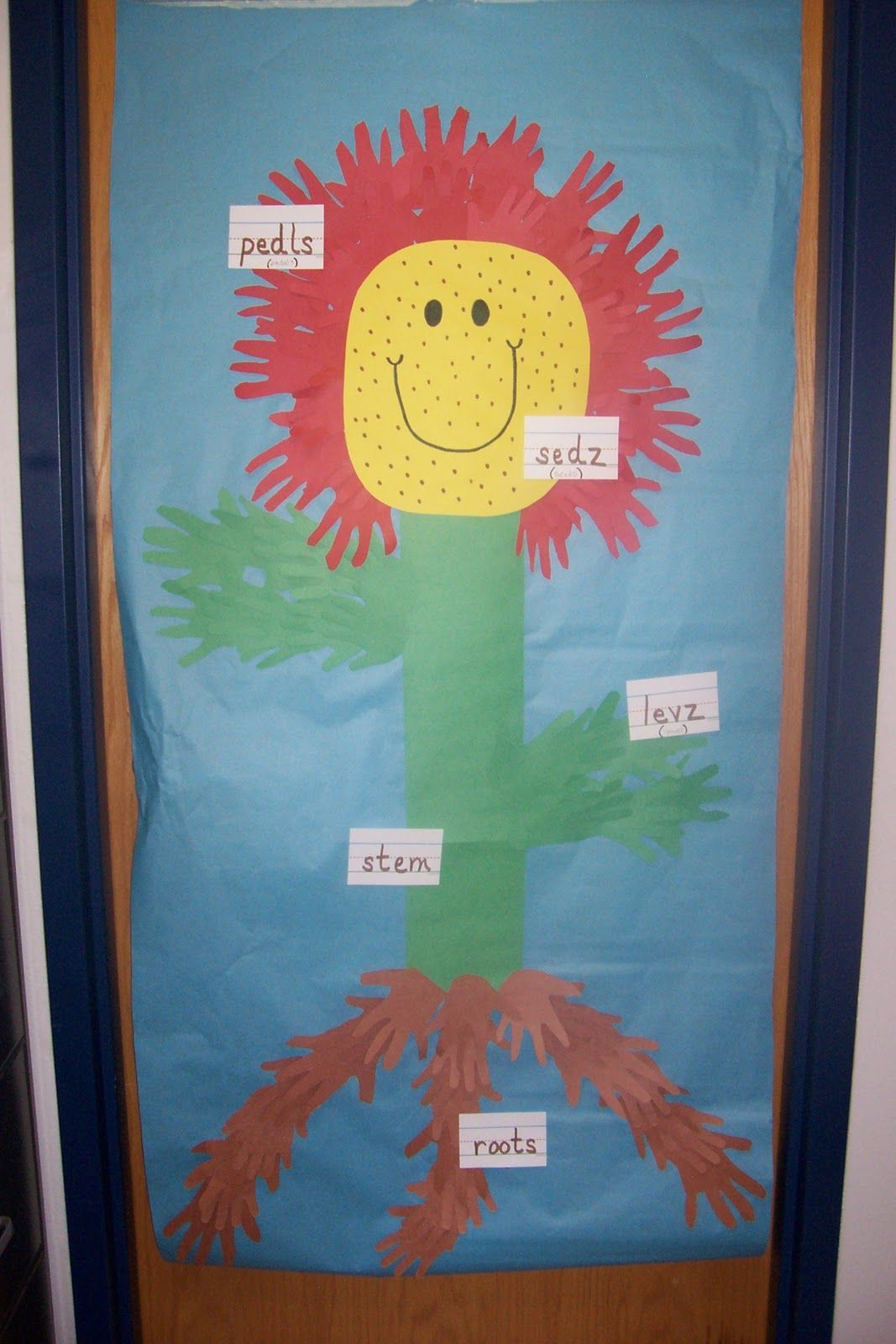 Cute Idea For A Door Decoration When We Re Studying Plants