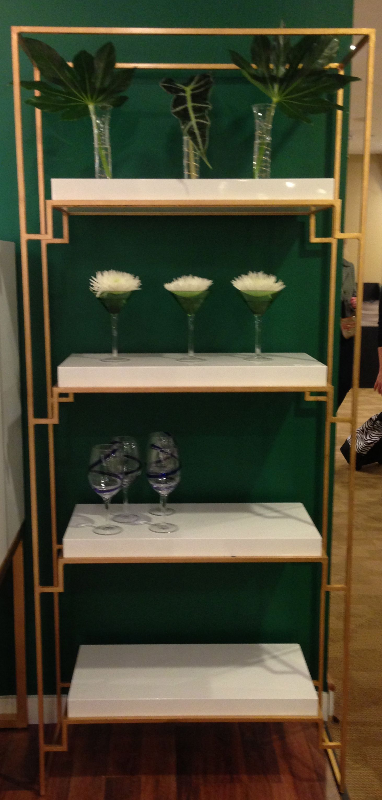 White Lacquer And Gold Etagere By Worlds Away Gold Etagere Fall