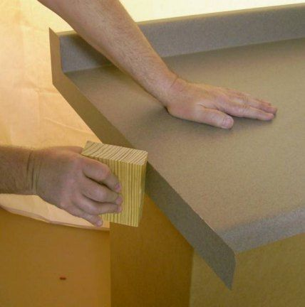 Instructions On How To Apply An End Cap To A Laminate Countertop