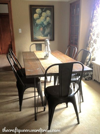 17. ah, finally the story of the dining room chairs! | rustic