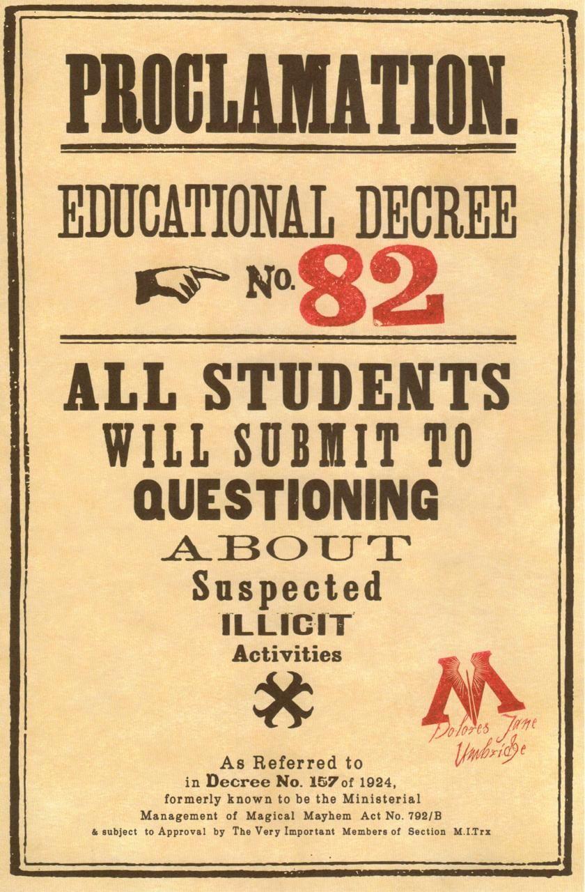 educational decree   Tumblr   Harry   Pinterest   Harry potter ...