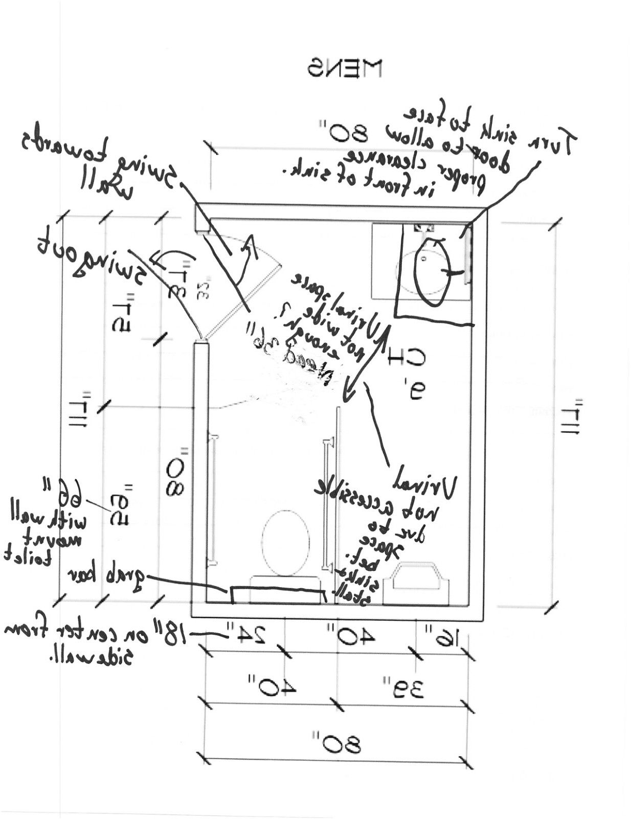 ada redesigning a public men s bathroom based on ada regulations from Ada  Bathroom Design Guidelines