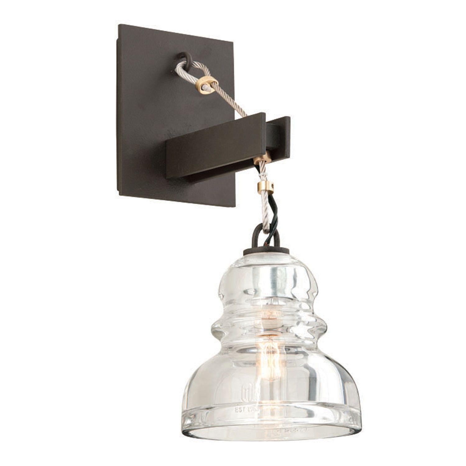 Menlo Park Deep Bronze One Light Wall Sconce Specialty Wall Sconces Wall Lighting