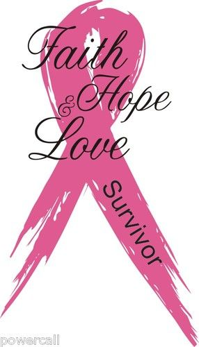 """5/"""" Breast Cancer Ribbon Support// Awareness Decal"""