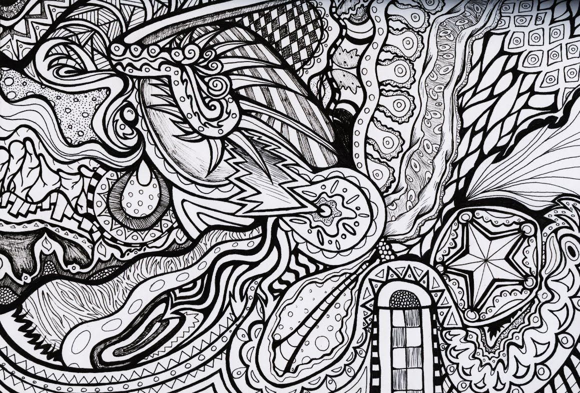 Trippy Coloring Pages | Trippy designs Colouring Pages | Stress ...