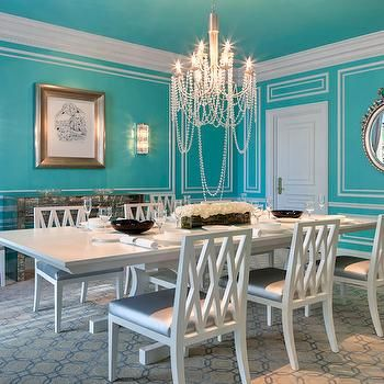 Tiffany Blue Dining Room Transitional The St Regis New York Painted Ceiling
