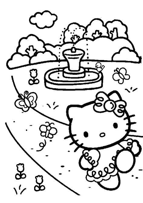 Coloring Pages Hello Kitty - Dr. Odd (With images)   Hello ...