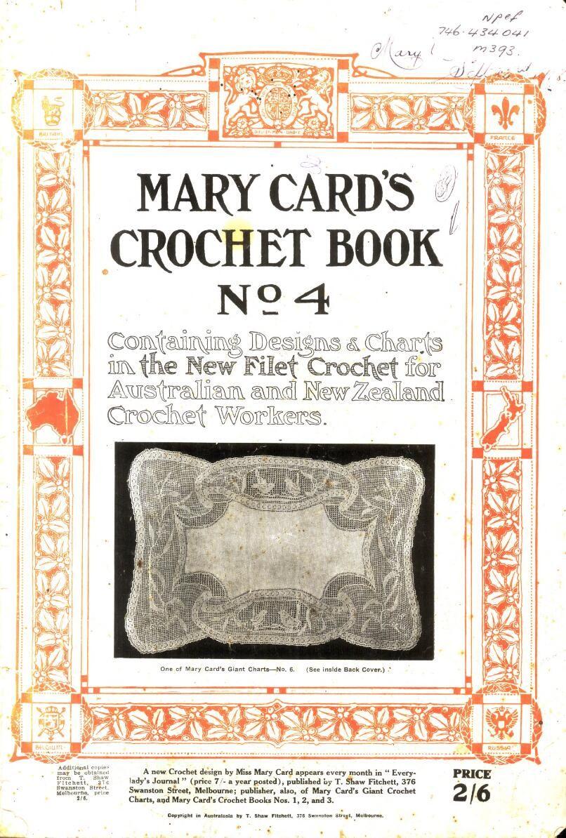 Libro antiguo de Filet Crochet escaneado con montones de gráficos y ...
