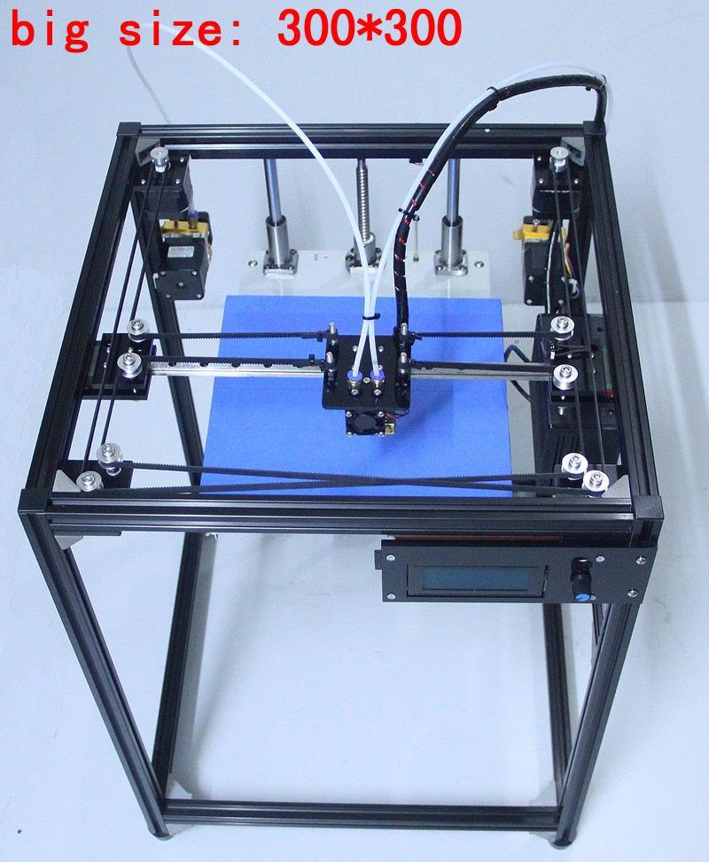 Ifancybox 3 Xxl Dual 2017 Big Size Diy Corexy 3d Printer Kit Linear Guide Aluminum Frame Dual Color Extruder 3d Printe 3d Printer Kit 3d Printer Diy 3d Printer