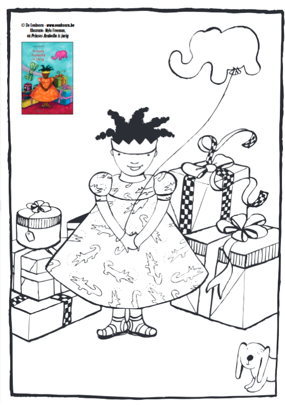Kleurplaten Voetbal Piet.Kleurplaat Arabella Is Jarig Prinsen En Prinsessen Boeken