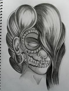 ... skulls on Pinterest | Sugar skull Sugar skull tattoos and Day of the
