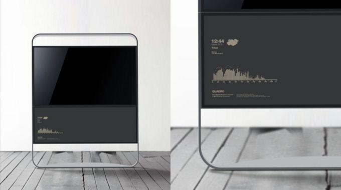 Segno 32 Led Television Concept Ponti Design Studio Ltd Aesthetic Design Tv Design Machine Design