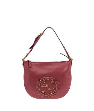 21782fbe49 Get one of the hottest styles of the season! The Gucci Rose Pebble Leather  (36579) Shoulder Bag is a top 10 member favorite on Tradesy.