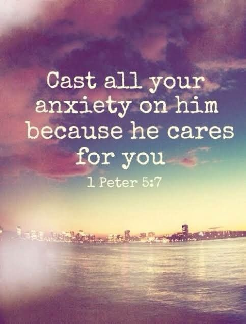 """1 Peter 5:7 ~ Amen  (I wish they would capitalize the """"h""""in"""