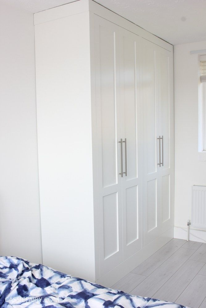 My minimalist bedroom makeover - DIY fitted wardrobes ...