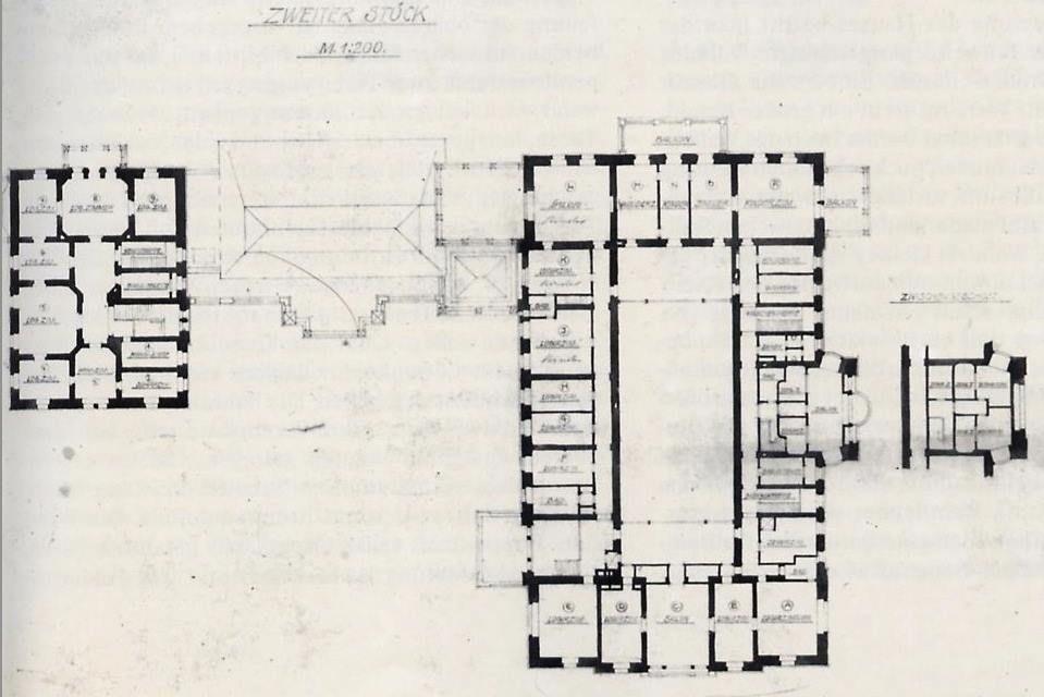 Villa Hugel Second floor plan (grundriss