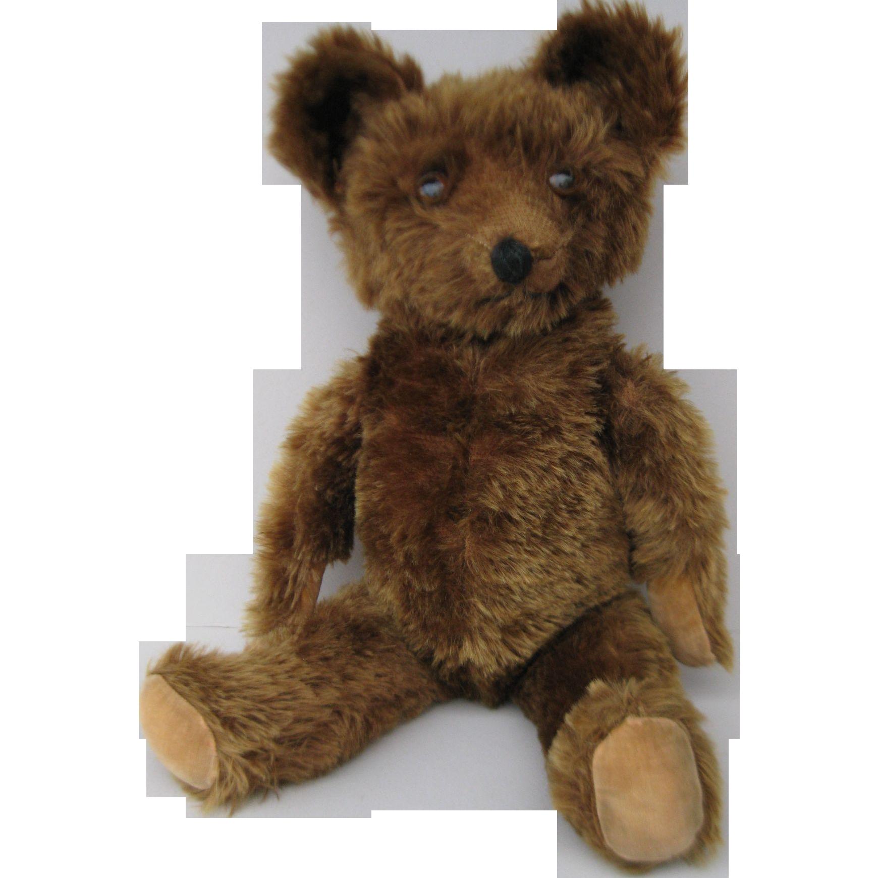 1930 S Knickerbocker Brown Mohair Teddy Bear Mohair Teddy Bear Teddy Bear Antique Teddy Bears