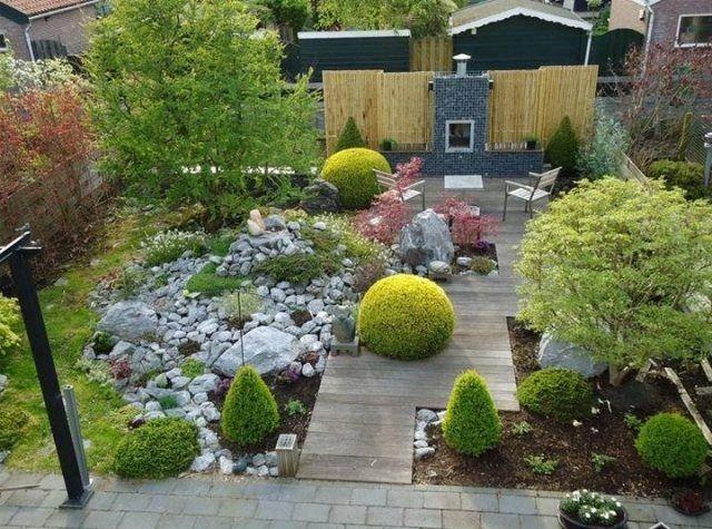 Gestaltungsideen Garten Innenhof Steine Formschnitt Terrasse Amazing Ideas