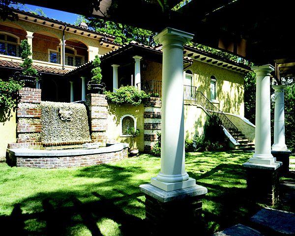 Exterior Residential Columns : Polystone fiberglass columns tuscan capitals bases